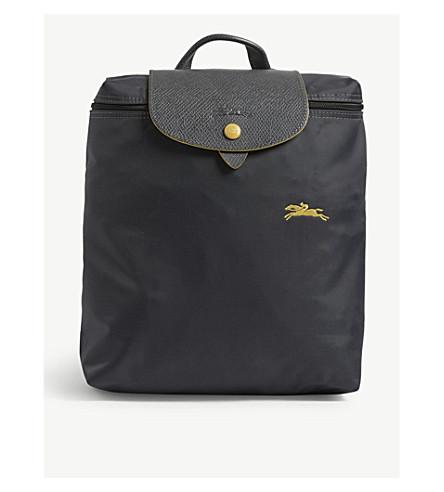 LONGCHAMP Le Pliage logo backpack (Gunmetal