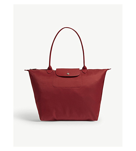 LONGCHAMP Madeline leather cross-body bag (Red