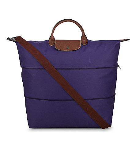 LONGCHAMP Le Pliage travel bag (Amethyst