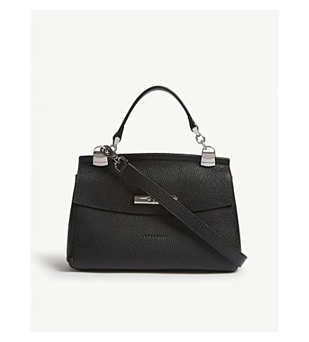 LONGCHAMP Madeleine grained leather cross-body bag (Black