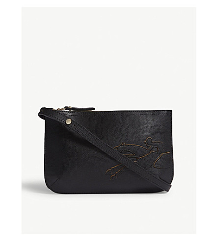 LONGCHAMP Shop-it leather cross-body bag (Noir