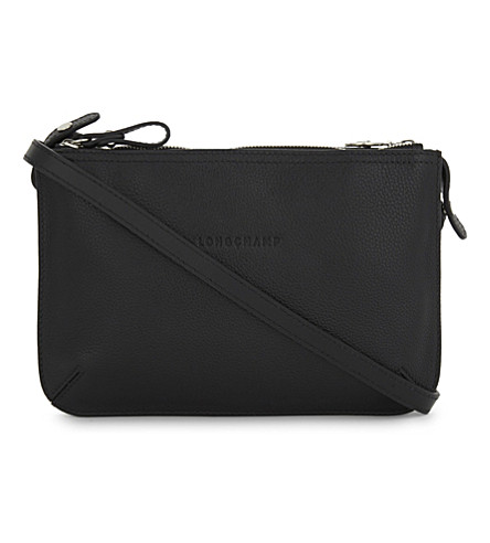 LONGCHAMP Le Foulonne grained leather cross-body bag (Black