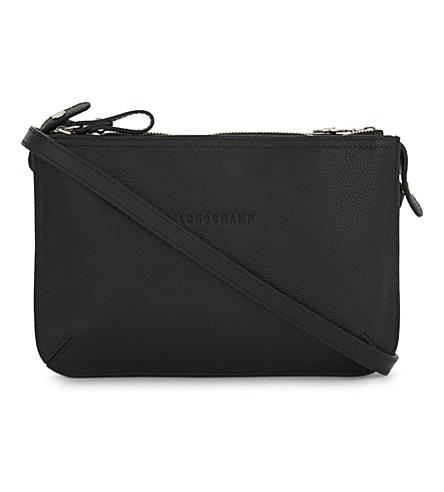 LONGCHAMP Le Foulonné leather cross-body bag (Black