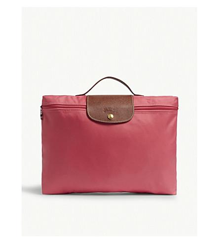 LONGCHAMP Le Pliage briefcase (Flowers