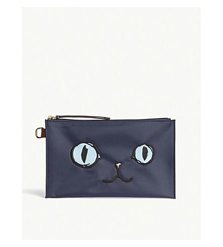 LONGCHAMP Le Pliage Miaou canvas pouch (Miaou