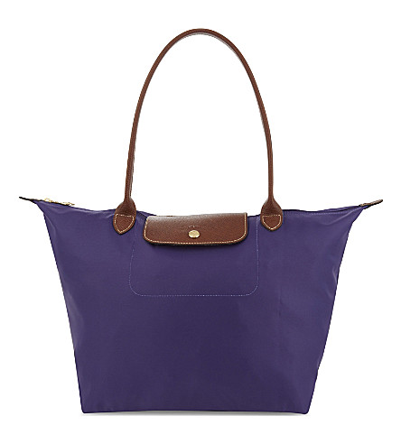 LONGCHAMP Le Pliage small nylon shoulder bag (Amethyst