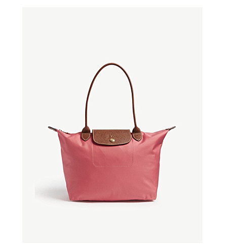 LONGCHAMP Le Pliage tote (Flowers