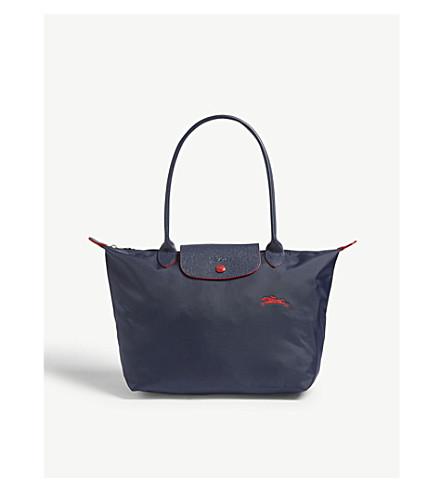 LONGCHAMP Le pliage club large shoulder bag (Navy