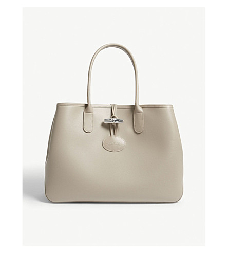 LONGCHAMP Roseau leather tote (Clay