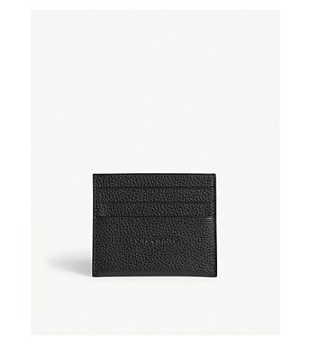 LONGCHAMP Foulonne grained leather card holder (Black