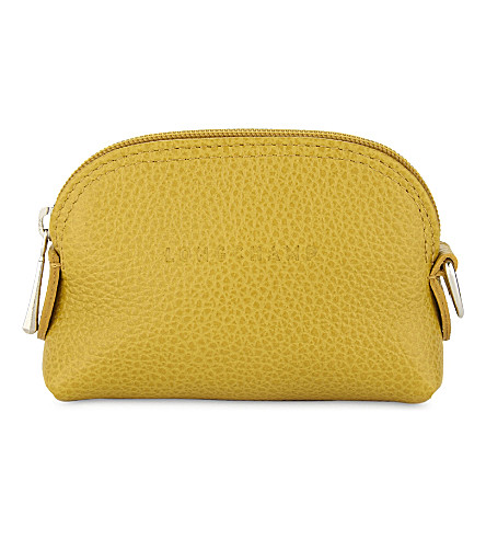 LONGCHAMP Le Foulonné leather coin purse (Mimosa