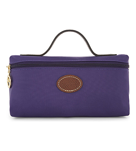 LONGCHAMP Le Pliage nylon cosmetic case (Amethyst
