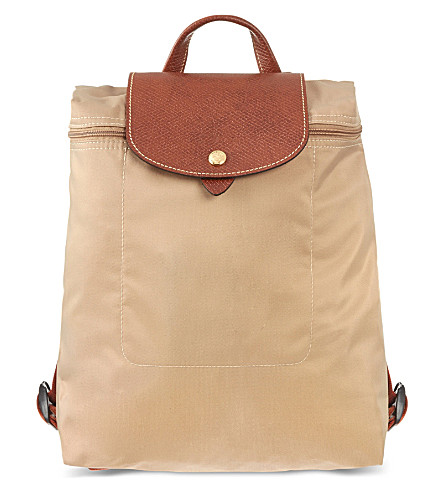 LONGCHAMP Le Pliage backpack (Beige