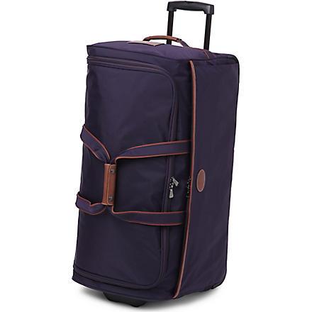 LONGCHAMP Le Pliage large wheeled duffel bag (Myrtille