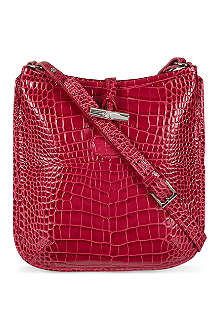 LONGCHAMP Roseau Croco cross-body bag