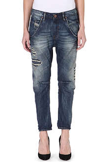 DIESEL Fayza Boyfriend distressed crop jeans