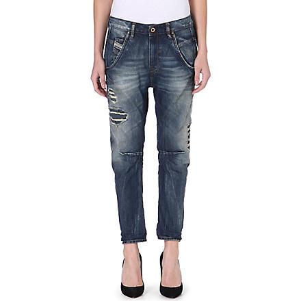 DIESEL Fayza Boyfriend distressed crop jeans (Blue