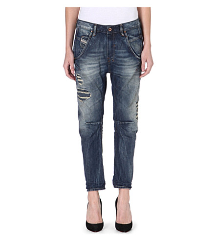 DIESEL Fayza Boyfriend distressed crop jeans (Blue