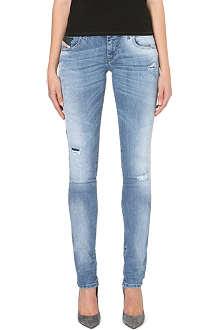 DIESEL Grupee distressed skinny jeans