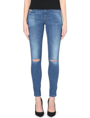 DIESEL Skinzee ripped skinny mid-rise jeans