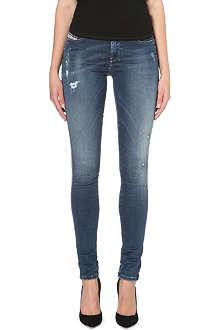 DIESEL Skinzee distressed skinny mid-rise jeans