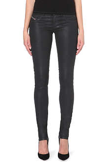 DIESEL Livier coated slim-fit low-rise jeans