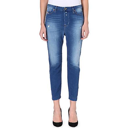 DIESEL Eazee high-rise boyfriend jeans (Blue