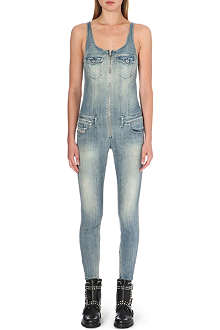 DIESEL Skinny stretch-denim jumpsuit