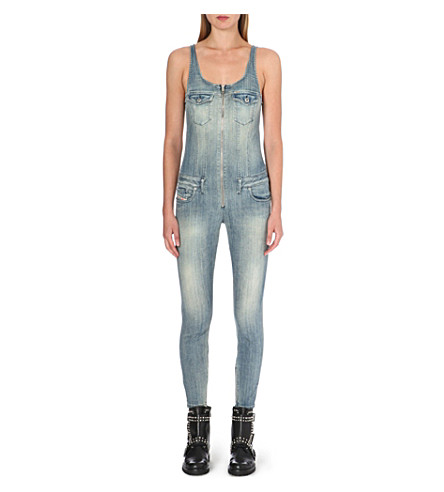 DIESEL Skinny stretch-denim jumpsuit (Denim