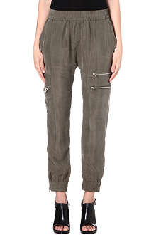 DIESEL Upit zip-detail satin trousers