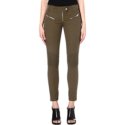 DIESEL Pisculec zip-detailed trousers (Khaki