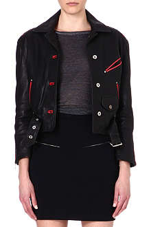 DIESEL Alces leather jacket