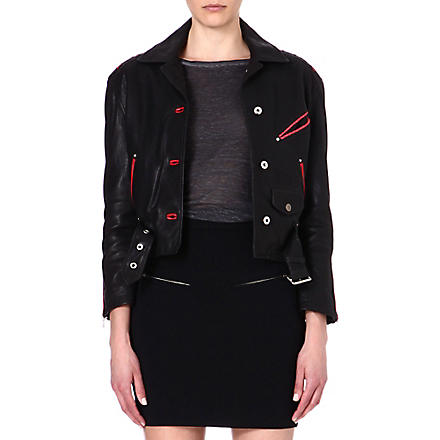 DIESEL Alces leather jacket (Black