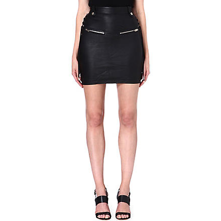 DIESEL Honsu leather skirt (Black