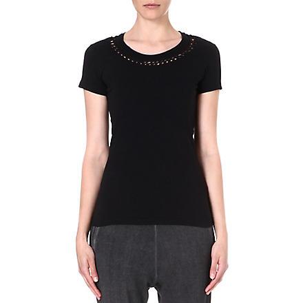 DIESEL Monsa cut-out jersey t-shirt (Black