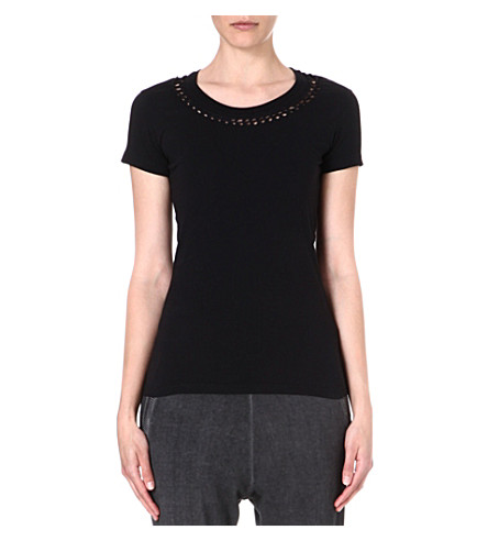 DIESEL Monsa cut-out jersey t-shirt (Black