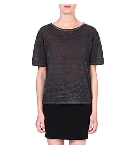 DIESEL Linen t-shirt (Black