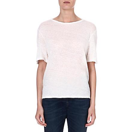 DIESEL Linen t-shirt (White