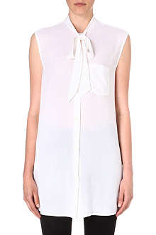 DIESEL Aried pussy-bow sleeveless shirt