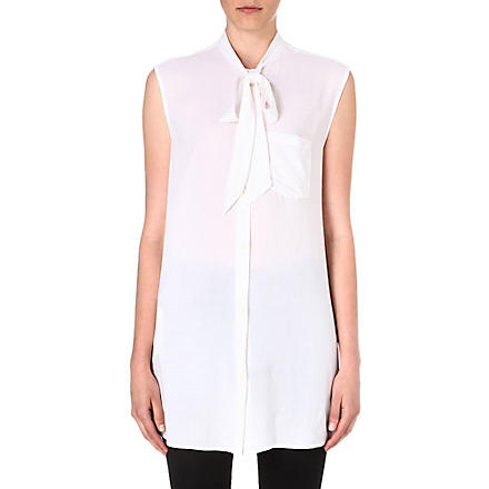 DIESEL Aried pussy-bow sleeveless shirt (100