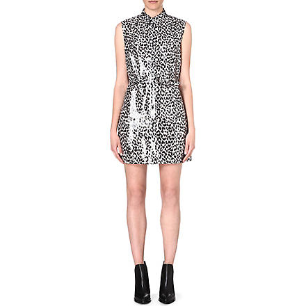 DIESEL Ariel leopard-print dress (Black
