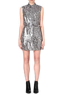 DIESEL Ariel leopard-print dress