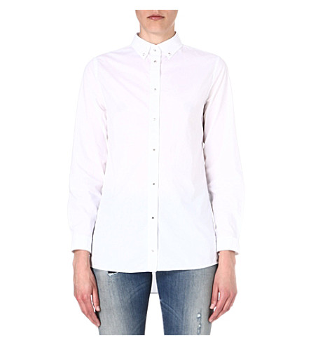 DIESEL Helium studded shirt (White