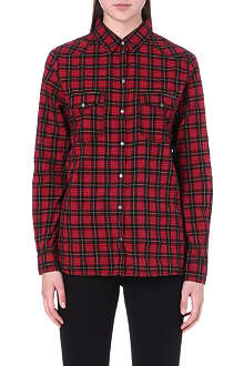 DIESEL Luto checked cotton shirt