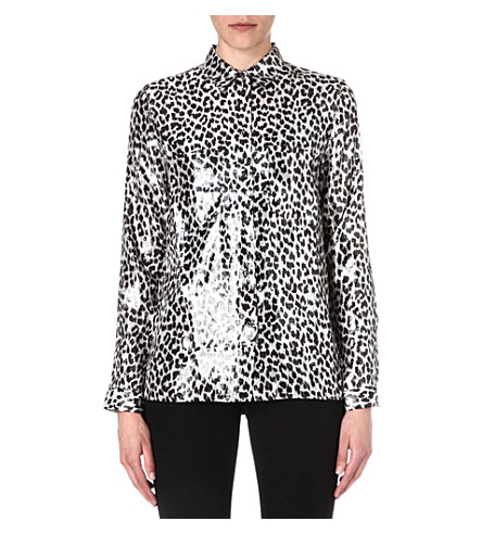 DIESEL Gala leopard-print shirt (Black