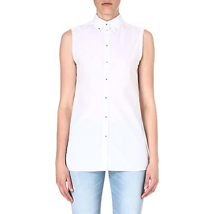 DIESEL Oryel studded shirt (White