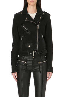 DIESEL Lupus leather biker jacket