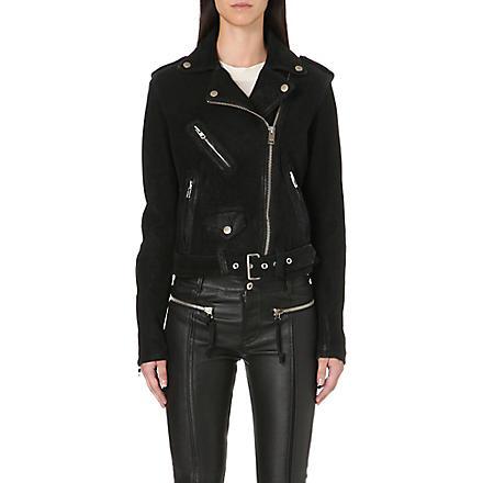 DIESEL Lupus leather biker jacket (Black