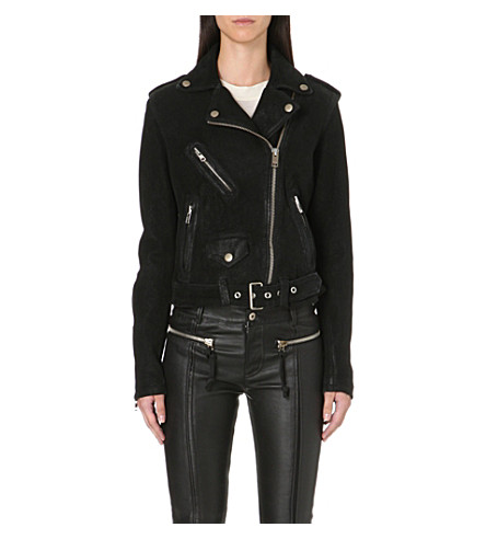 DIESEL Lupus leather biker jacket (Black