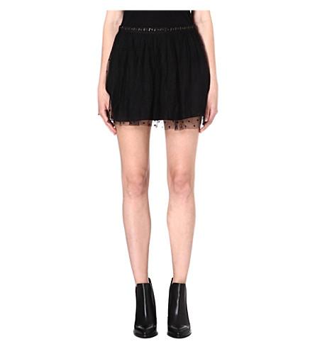 DIESEL Omadon mesh skirt (Black